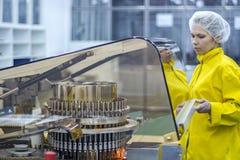 Pharmazeutische Produktions-Arbeitskraft Lizenzfreies Stockfoto