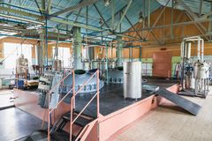 Pharmazeutische und chemische Industrie Fertigung auf Anlage Stockbilder