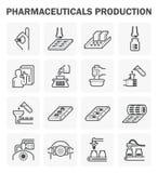 Pharmazeutische Vektorikone Lizenzfreie Stockfotografie