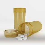 Pharmazeutischer Drogen- oder Pillenkanister Lizenzfreie Stockbilder