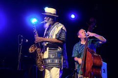 Pharoah Sanders Quartet 84 Stock Photo