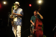 Pharoah Sanders Quartet 87 Royalty Free Stock Photos