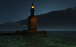 Pharos Lighthouse at Dusk Stock Image