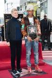 Pharrell Williams & Ellen DeGeneres Stock Photos