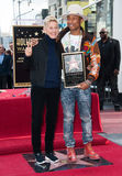 Pharrell Williams & Ellen DeGeneres Stock Images
