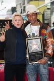 Pharrell Williams & Ellen DeGeneres Royalty Free Stock Image
