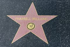 Pharrell Williams star on the Hollywood Walk of Fame Royalty Free Stock Photos
