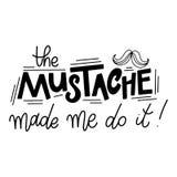 Pharses di Movember Citazioni di motivazione e di promozione tipografia dell'iscrizione Immagini Stock Libere da Diritti
