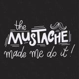 Pharses di Movember Citazioni di motivazione e di promozione tipografia dell'iscrizione Fotografie Stock Libere da Diritti