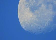 Phase des Mondes in der Tageszeit Lizenzfreies Stockfoto