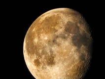 Phase gibbbeuse de affaiblissement 85-92% de lune image libre de droits