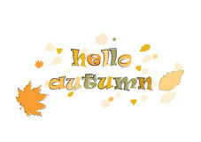 Phase hello autumn Stock Photography