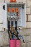 3 Phase High Voltage Breaker Box Royalty Free Stock Photo