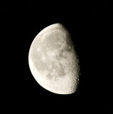 Phase of the moon. On a dark sky. Ukraine, Donetsk region Royalty Free Stock Photos