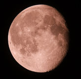 Phase of the moon on a dark sky. 15.08.11 Royalty Free Stock Images