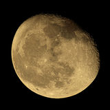 Phase of the moon on a dark sky Royalty Free Stock Photography