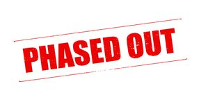 Phased out. Stamp with text phased out inside,  illustration Stock Photo