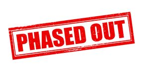 Phased out. Stamp with text phased out inside,  illustration Royalty Free Stock Image