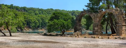 Phaselis, Antalya die Türkei Lizenzfreie Stockfotos
