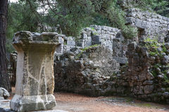 Phaselis ruins in Turkey Royalty Free Stock Images