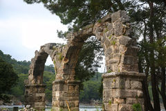Phaselis ruins in Turkey Stock Image