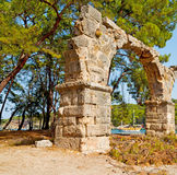 phaselis sea  bush gate  in  myra  the      old column  stone  c Stock Photography