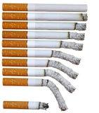 Phases de cigarette photo libre de droits