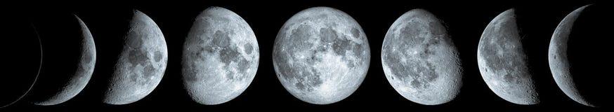 Phases de la lune images libres de droits