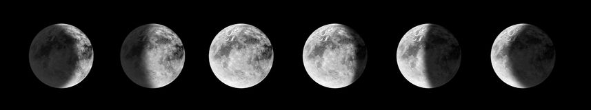 Phases de lune Photo libre de droits
