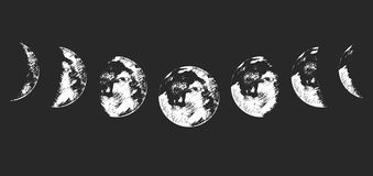 Phases de lune Photo stock