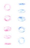 Phases of a falling glass ring Royalty Free Stock Photos