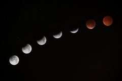 Phases of Moon Photo Stock Photos