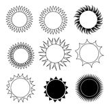 Phases of the sun Royalty Free Stock Image