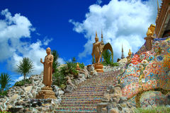 phasornkaew rocktemple寺庙 图库摄影