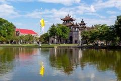 Phat Diem domkyrka under blå himmel i Ninh Binh, Vietnam Royaltyfria Bilder