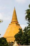 Phatatpratomjedi is a big pagoda in thailand Royalty Free Stock Image