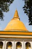 Phatatpratomjedi is a big pagoda in thailand Stock Images