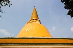 Phatatpratomjedi is a big pagoda in thailand Royalty Free Stock Images
