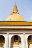 Phatatpratomjedi is a big pagoda in thailand Stock Photos