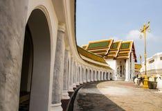 Phatatpratomjedi is a big pagoda in thailand Stock Photography