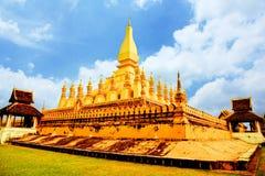 Phathat Luang. Vientiane,Landmark ofLaos Stock Images