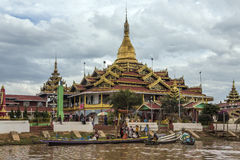Phaung Dow Oo Temple - Inle Lake - Myanmar. The Phaung Dow Oo Buddhist Temple on Inle Lake in Shan State in central Myanmar (Burma Royalty Free Stock Photo