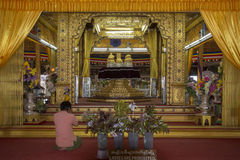 Phaung Dow Oo Temple - Inle Lake - Myanmar. Interior of the Phaung Dow Oo Buddhist Temple on Inle Lake in Shan State in central Myanmar (Burma). It is the Stock Images
