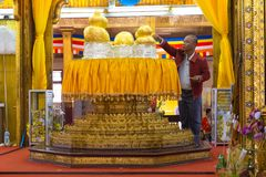 Phaung kawki Oo pagoda, Inle jezioro, Myanmar Fotografia Stock