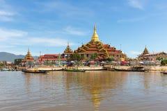 Phaung kawki Oo pagoda, Inle jezioro, Myanmar Zdjęcia Royalty Free