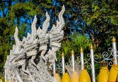 Phaya Naga bewaakt de Tempel Wat in Thailand royalty-vrije stock afbeeldingen