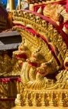 Phaya Naga bewaakt de Tempel Wat in Thailand stock foto