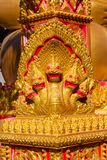 Phaya Naga bewaakt de Tempel Wat in Thailand royalty-vrije stock foto