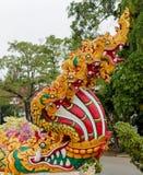 Phaya Naga bewaakt de Tempel Wat in Thailand stock fotografie