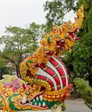 Phaya Naga chronią Świątynnego Wat w Tajlandia fotografia stock